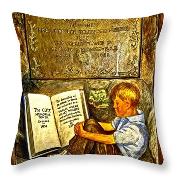 The Coit Memorial Tower 1933 Throw Pillow