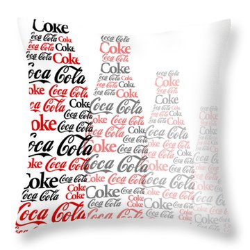 The Coke Project Throw Pillow by Saad Hasnain