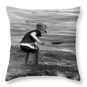 The Collector Throw Pillow by Debbie Oppermann