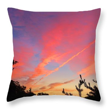 Throw Pillow featuring the photograph The Color Gets Good by Kathryn Meyer