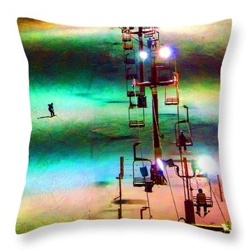 The Color  Of Fun  Throw Pillow by Susan  McMenamin