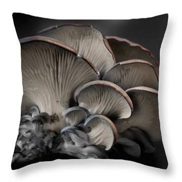 Painted Fungus Throw Pillow