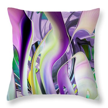 The Color Of Iris - Digital Abstract Art Throw Pillow