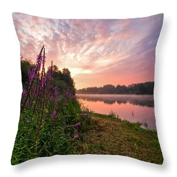The Color Purple Throw Pillow by Davorin Mance