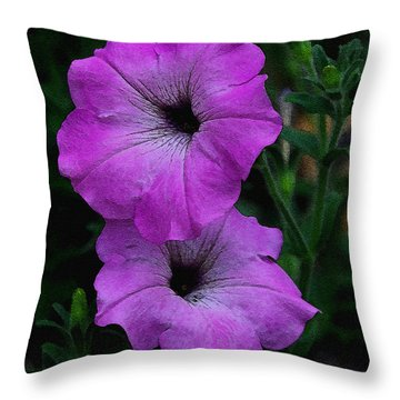 Throw Pillow featuring the photograph The Color Purple   by James C Thomas