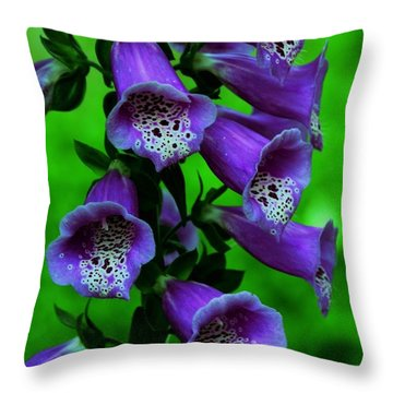 The Color Purple Throw Pillow by Kathleen Struckle