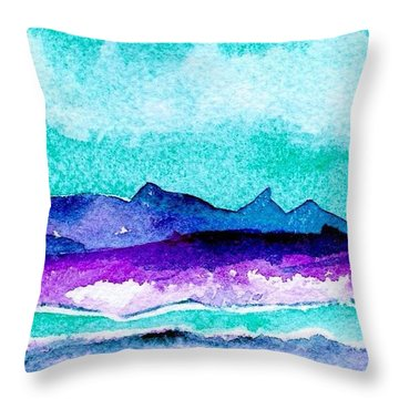 Throw Pillow featuring the painting The Colorado River by Anne Duke