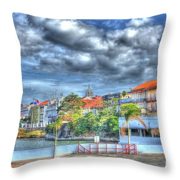 The Colors Of Casco Viejo Throw Pillow by Bob Hislop