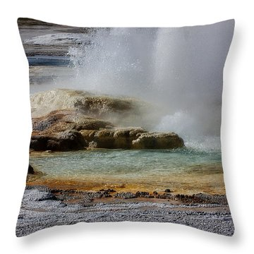 The Colors Of Clepsydra Throw Pillow