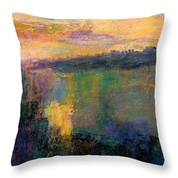 The Colors Of Hope Throw Pillow by Jim Whalen