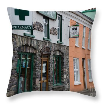 The Colors Of Sneem Throw Pillow by Mary Carol Story