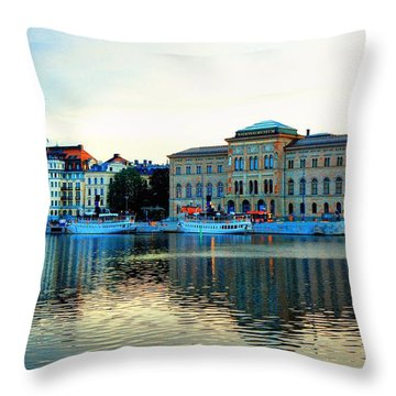 The Colors Of Stockholm Throw Pillow