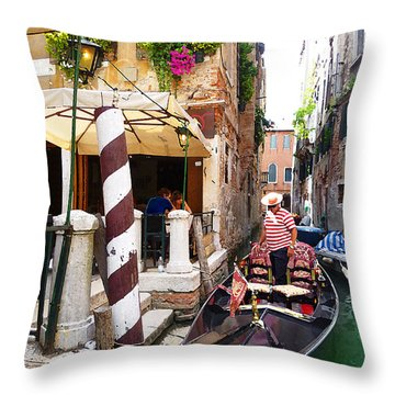 The Colors Of Venice Throw Pillow