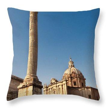 The Column Of Phocus Throw Pillow