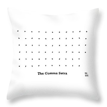 The Comma Sutra. Images Of Commas In Different Throw Pillow