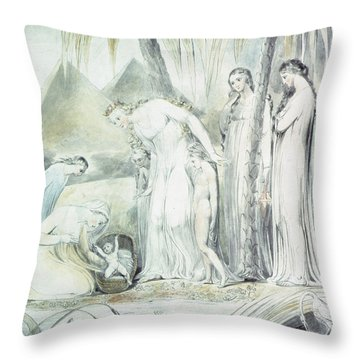 The Compassion Of Pharaohs Daughter Or The Finding Of Moses Throw Pillow
