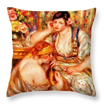 The Concert Throw Pillow by Pierre Auguste Renoir