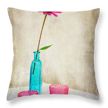 The Coneflower Throw Pillow