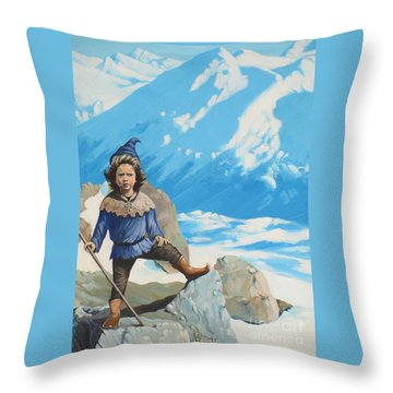 The Conquerer. Throw Pillow
