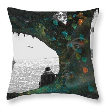 The Conscious Tree Throw Pillow by Betsy Knapp