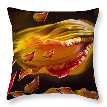 The Contagion Of Laughter Throw Pillow by Angela A Stanton