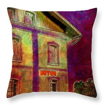 The Corner Store Throw Pillow by Mimulux patricia no No
