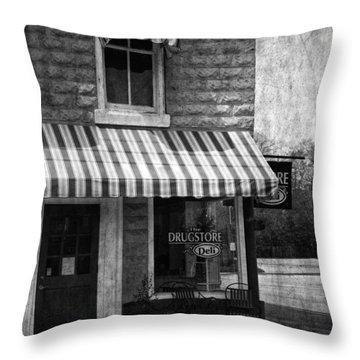 The Corner Deli Throw Pillow