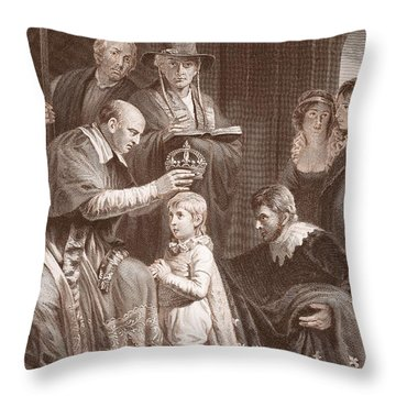 The Coronation Of Henry Vi, Engraved Throw Pillow by John Opie