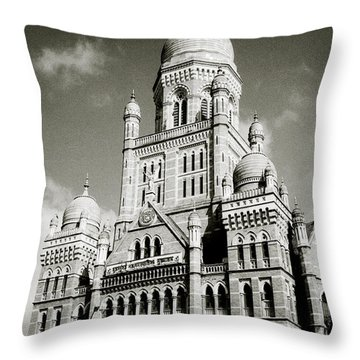 The Corporation Building Bombay Throw Pillow
