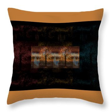 The Country Side Throw Pillow by Sherry Flaker