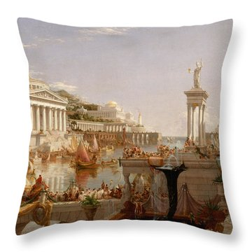 The Course Of Empire Consummation  Throw Pillow