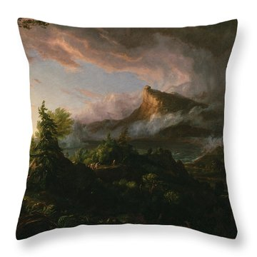 The Course Of Empire The Savage State  Throw Pillow