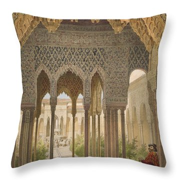 The Court Of The Lions Throw Pillow