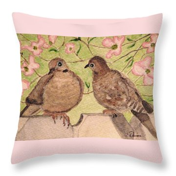 The Courtship Throw Pillow