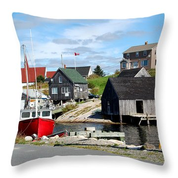 The Cove 3 Throw Pillow by Ron Haist