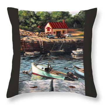 The Cove Throw Pillow by Eileen Patten Oliver