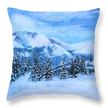 The Covering Throw Pillow by Margaret Bobb