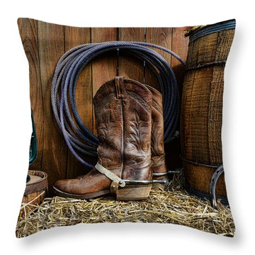 The Cowboy Throw Pillow by Paul Ward