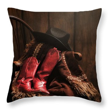 The Cowgirl Rest Throw Pillow