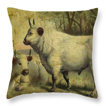 The Cows Came Home Throw Pillow by Sarah Vernon