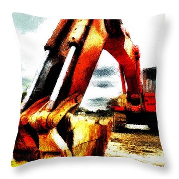 The Crab Claw Throw Pillow by Steve Taylor