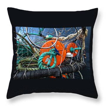 Crab Ring Throw Pillow