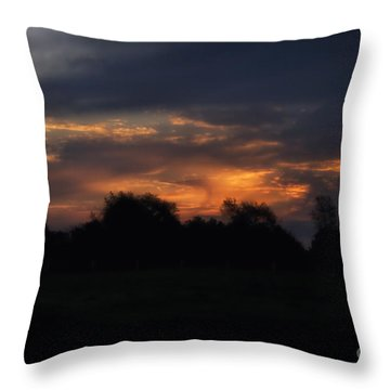 The Crack Of Dawn Throw Pillow by Thomas Woolworth