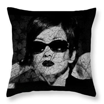 The Cracked Facade Throw Pillow