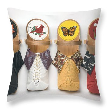 Four Seasons Cradleboards Throw Pillow