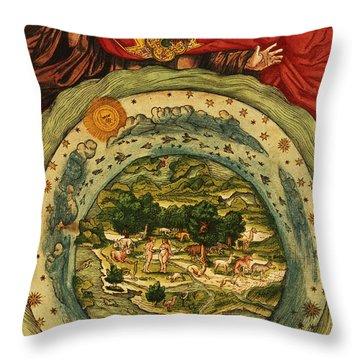 The Creation, From The Lutheran Bible Throw Pillow