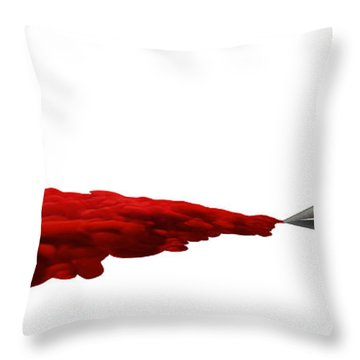 The Creative Flow Throw Pillow by Allan Swart