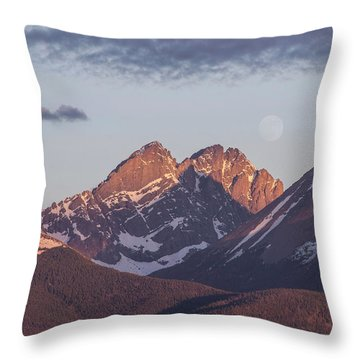 The Crestones 2 Throw Pillow