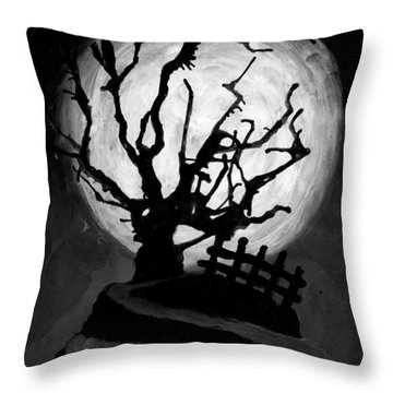 The Crooked Tree Throw Pillow