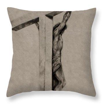 The Cross Throw Pillow by Derrick Higgins